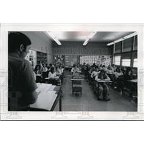 1974 Press Photo Junior political science class at Merrill High School,Wisconsin