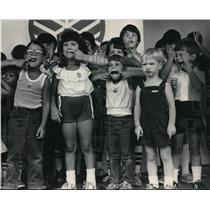 1983 Press Photo Children in the funny-face contest at the Wisconsin State fair.
