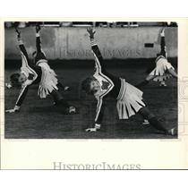 1984 Press Photo Becky Randow performed with the St. Francis Pom Pon squad.