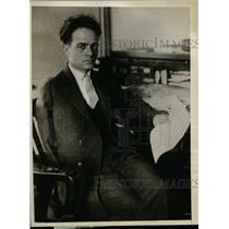 1925 Press Photo Rinaldo Gappalini Directing the Walkout of 85,000 Men Under Him
