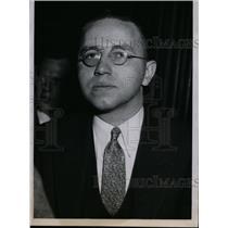 1935 Press Photo Professor Frederick L. Schuman at Illinois Communism Hearing