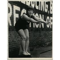 1923 Press Photo Florence Briscoe, Diving Champion - nef32415