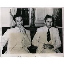 1935 Press Photo Joseph Pelteri, Arthur A. zuhn in New Orleans - nef32911