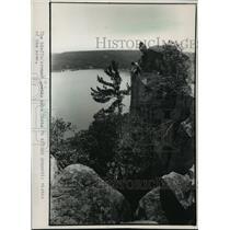 1988 Press Photo Devil's Lake State Park in Sauk County, Wisconsin - mja38184