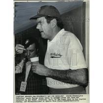 1973 Press Photo George Allen coach of Washington Redskins - net26203