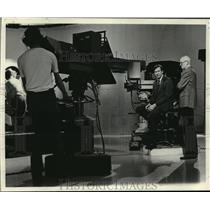 1979 Press Photo Peter Banzhaf during taping of Business of Wisconsin.