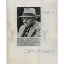 1955 Press Photo Chicago Bears owner & coach George Halas - net26508