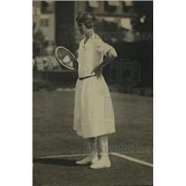 1921 Press Photo Tennis player Marion Zinderstein Jessup on the courts