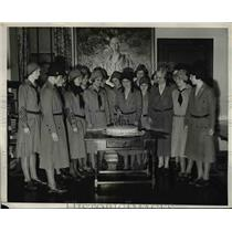 1932 Press Photo Official Celebration of The 20th Birthday of The Girl Scouts