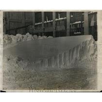 1926 Press Photo Typical winter snow drifts at Boston Massachusetts - net27687