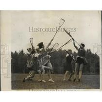 1931 Press Photo Lacrosse played at Camp Carroll at Pawling, New York