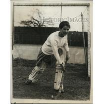 1929 Press Photo Smith College freshman field hockey goaltender Louise Pierce