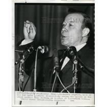 1964 Press Photo Walter Reuther Speaks at United Auto Workers Union Session