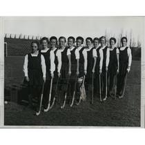 1933 Press Photo Members of Northeast field hockey team at National tournament