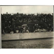 1922 Press Photo Crowds at dog races at Miami Florida track - net28623