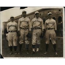 1930 Press Photo Harvard baseball Frank Nugent, Barry Wood, Dwight Davis Jr
