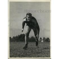 1938 Press Photo Herbert Robson Hillsborough HS football tackle at practice