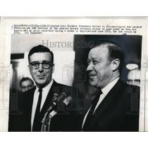 1964 Press Photo Walter Reuther of UAW & Leonard Woodcock Interviewed in Detroit