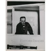 1936 Press Photo Major J Andrew White first radio sports announcer - net29085