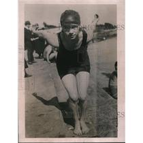 1922 Press Photo Florence Friesenhausen San Francisco swimmer - net29104