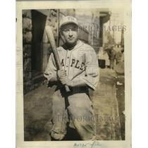 1929 Press Photo Pete Leaness captain of Temple Illinois baseball - net29158