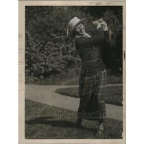 1921 Press Photo Mrs. Frederick Letts during Women's National Golf Championship