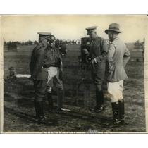 1923 Press Photo Major AH Wilson, Raymond Belmont, Col Brown, M Stevelnson polo