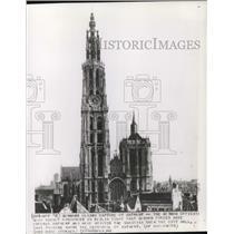 1848 Press Photo Cathedral of Antwerp in Antwerp Belgium captured by Germans