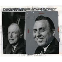 1967 Press Photo Bing Devine of pres. of NY Mets and Gil Hodges, manager of Mets