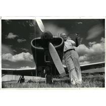 1979 Press Photo Pilot Max Conrad - oro03580