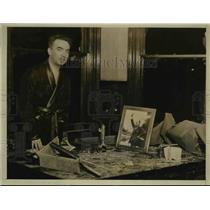1931 Press Photo Dr. Giovanni Giurato in Office After Bombing, Pittsburgh