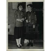 1937 Press Photo Chang Hsuehsin and Ruth Sakurai Attend Guide Encampmen