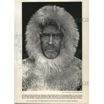 1909 Press Photo Commodore Robert E. Pearing during dogsled race to North Pole.
