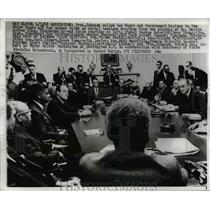 1968 Press Photo Lyndon B. Johnson with Black White House Leaders on MLK Death