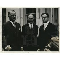 1929 Press Photo Cooper C. Lighbown, W.A. Payne, Howard W. Selby at White House
