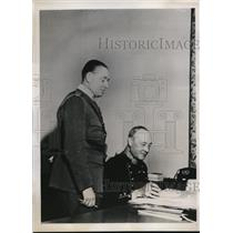 1940 Press Photo Lieut. General Pen Sylvan Chief of Swedish Army in Office