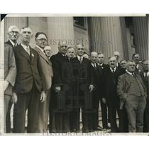 1929 Press Photo Kansas Farmers Call on Vice Pres & Senators at Office