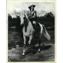 1981 Press Photo Colonel William F. Cody, Buffalo Bill, painting dated 1889.