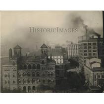 1910 Press Photo City Hall and the a new post office in Atlanta, Georgia