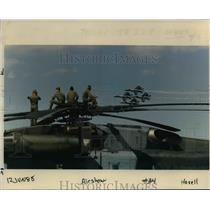 1988 Press Photo Navy Blue Angel helicopter - orb79909
