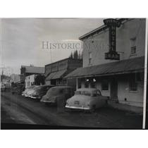 1954 Press Photo One side of the main street of Pierce, Idaho - spx09827