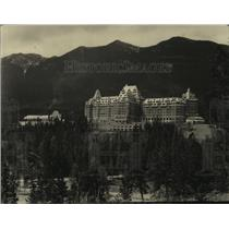 1932 Press Photo Banff Springs Hotel where King and Queen of Siam will stay.