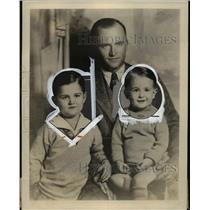 1929 Press Photo U.F. Diterman, Atlantic Flyer and sons Jackie and Eddie