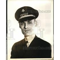 1938 Press Photo John Bordeno 2nd Pilot of American Airlines - nef35906