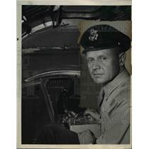 1946 Press Photo Col. Harvey T. Alness in Command of B-17 Ops for Atom Bomb Test