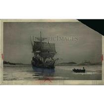 1919 Press Photo The Mayflower in Plymouth Harbor - nef39036