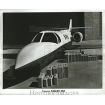 Press Photo Cessna Fanjet 500 - ney22588