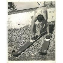 1940 Press Photo Skiiing Bruce Parker - RRR56969
