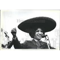 1981 Press Photo Los Vecinos Casa Aztlan Festival - RRR31095