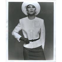 1984 Press Photo Fashion Dress Person Practice Popular - RRR64433